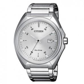 orologio citizen in acciaio con quadrante argentato