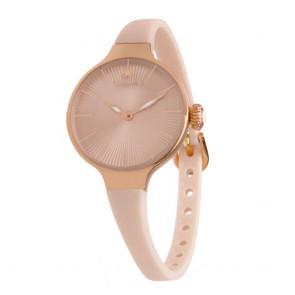 Orologio Hoops rosato e beige con tacche segnate sul vetro