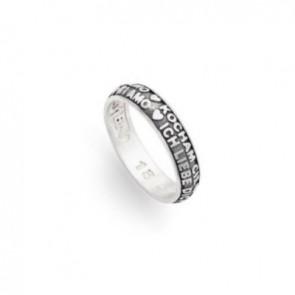 anello amen in argento brunito 925 ti amo in tutte le lingue