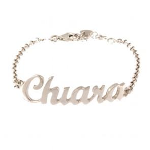 bracciale argento nome personalizzabile colore oro bianco