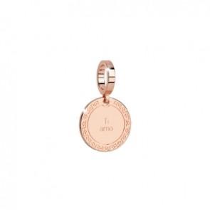 pendente charm in bronzo rebecca con inciso ''ti amo''