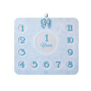 Quadro portaritratti 12 mesi con dettagli in argento 925