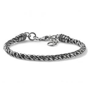 Bracciale in argento 925 MCS maglia a filo intrecciato