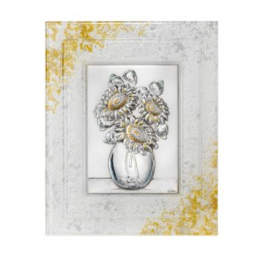 Quadro Acca con cornice in vetro di murano e piastra in argento 925