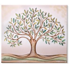 quadro albero della vita piccolo con inserti in argento
