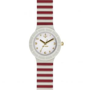 Orologio Hip Hop in silicone bianco e rosso