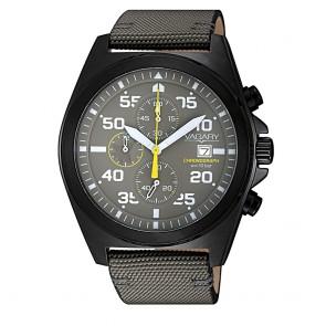 Orologio uomo Vagary con cronografo e cinturino in tessuto tecnico