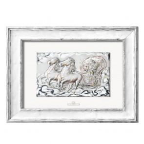 Quadro Acca con rappresentata l'aurora su lastra in argento 925