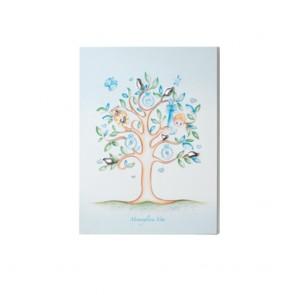 Quadro Acca con albero della vita da bambino e dettagli in argento 925