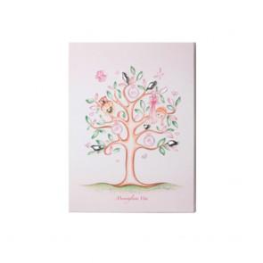 Quadro Acca con albero della vita da bambina e dettagli in argento 925