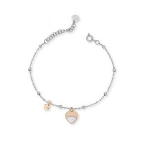 Bracciale donna Ops Object con pendente a cuore e microcristalli