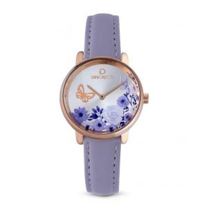 Orologio donna Ops Objects con motivo floreale e farfalle