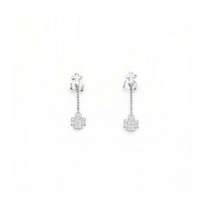 Orecchini donna amen in argento 925 pendente con zirconi