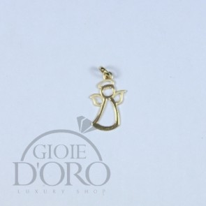 PENDENTE IN ORO GIALLO 18 KT ANGELO MADE IN ITALY