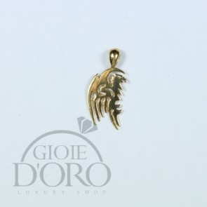 PENDENTE CHARM IN ORO GIALLO 18 KT DRAGO MADE IN ITALY