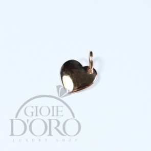 CIONDOLO ORO ROSA 18 KT CUORE MADE IN ITALY