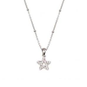 Collana Boccadamo donna in argento con stella tempestata di zirconi