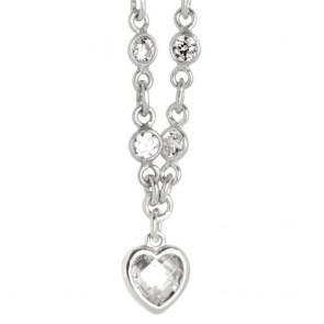 Collana Boccadamo donna in argento con cuore a zircone crystal