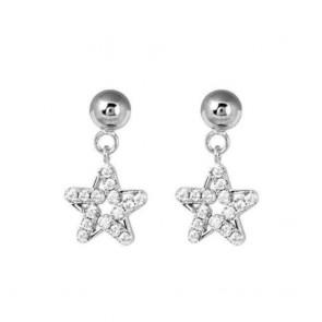Orecchini donna Boccadamo in argento con pendente stella tempestato di zirconi