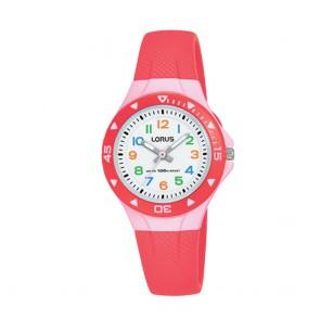 Orologio bambino Lorus analogico rosso chiaro e rosa