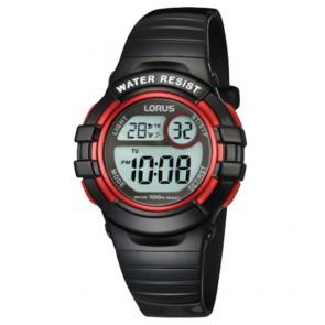 Orologio Lorus bambino sportivo nero e rosso lucidi digitale multifunzione
