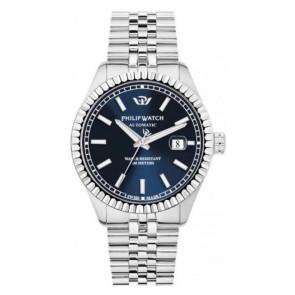 Orologio uomo Philip Watch con quadrante blu notte, meccanico cinturino tipo jubilé