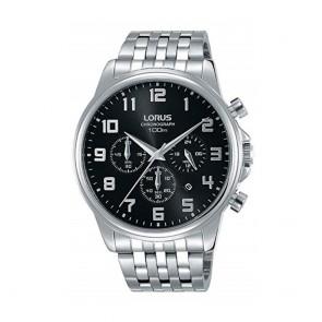 orologio Uomo Lorus con cronografo e quadrante nero