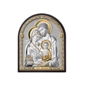 Pannello acca con lastra in argento 925 in bassorilievo