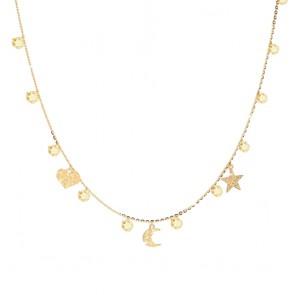 Collana donna Rebecca, argento con zirconi e charm diamantati