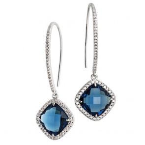 Orecchini donna Boccadamo con cristallo blue montana